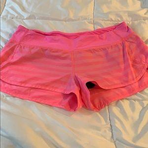 Hot pink lululemon short, size 10